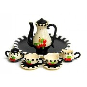 Unique Design Dollhouse Miniature Semi Matte Look Finish Porcelain Tea Set