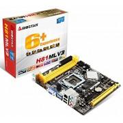 Biostar H81MLV3 scheda madre Socket (H81, S1150, DDR3, VGA/Audio/LAN)
