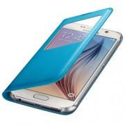 Husa Samsung S-View Cover PU EF-CG920PLEGWW blue pt Galaxy S6