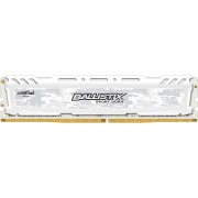 Crucial Ballistix Sport LT 8GB Single DDR4 2400 MT/s (PC4-19200) DIMM 288-Pin Memory - BLS8G4D240FSC (White)