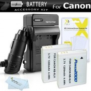 2 Pack Battery And Charger Kit For Canon PowerShot SX280 HS SX510 HS SX520 HS SX170 IS S120 SX600 HS SX700 HS SX610 HS SX710 HS SX530 HS SX540 HS D30 Digital Camera (Replaces NB-6L Battery)