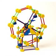 Superstructs Super Set 230-piece Plastic Construction Toy with Guide Shows How to Build a Working Ferris Wheel, a Carousel, a Large Crane, Cars, Trucks and More by Superstructs