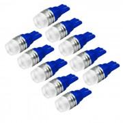 Jiawen T10 1.5W coche LED Side Hacedor del bulbo de la lampara de copia de seguridad azul claro (10PCS)