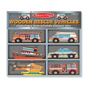Melissa & Doug Deluxe Wooden Rescue Vehicles Set by Melissa & Doug