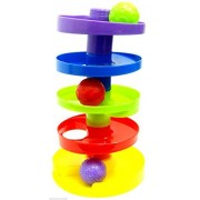 Rolling Ball Tower Set Five Tier Rolling Ball Tower with 3 Balls Baby's Toy Set