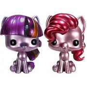 Funko POP! My Little Pony Set of Both ToyWiz Exclusive Vinyl Figures Metallic Pinkie Pie & Metallic