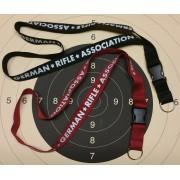 GRA Lanyard rot / schwarz 2cm breit