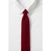 ランズエンド LANDS' END メンズ・シルク・ニット・タイ/ネクタイ(リッチレッド)