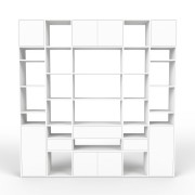 Bücherregal Weiß, MDF, 230 x 233 x 35