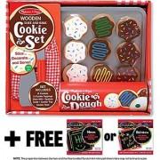 Slice & Bake Cookies Set - Play Food Set + FREE Melissa & Doug Scratch Art Mini-Pad Bundle [40747]