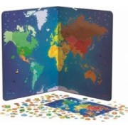 Jucarie educativa Janod Animal Magnetic World Map