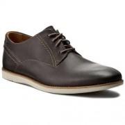 Clarks Półbuty CLARKS - Franson Plain 261244047 Grey Leather