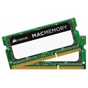 Corsair CMSA16GX3M2C1866C11 Apple Mac Memoria DDR3L da 16GB, Set 2x8GB DDR3L 1866Mhz, Certified SODIMM, Verde