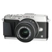 """Olympus E-P5 Cámara EVIL de 16.1 Mp (pantalla 3"""", estabilizador óptico, grabación de vídeo), negro y plateado Kit cuerpo con objetivo 14-42 mm II R"""
