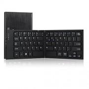 Perixx PERIBOARD-805L Bluetooth Folding Keyboard - Large Desktop Size Keys - Magnetic Foldable Design - 6.30 x3.78 x0.67 Pocket Size - Silent X Type Scissor Keys - On/Off Switch - Non-slip Rubber Feet - US English Layout