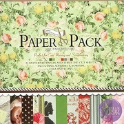 """AsianHobbyCrafts Designer Paper Pack by EnoGreeting : 12"""" x12"""" : (PS011) : 24 patterned papers and 3 Die Cut Sheets : Theme – Romantic"""