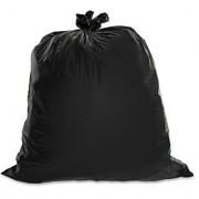 150 pcs Black Bin/Trash Rubbish Waste Garbage Disposable Bags Sacks-Size 19x21