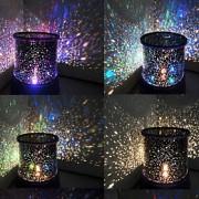mudando de cor estrela beleza estrelado luz noite céu projector (3xAA, cor aleatória)