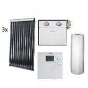 Pachet panouri solare Bosch 3 VK280-1 + WST SP750-1 + B-SOL 300 - acoperis plan