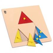 Skillofun Wooden Parts Of Triangle Tray (With Knobs)