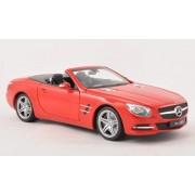 Mercedes SL 500 (R231), rojo, cubierta abierto , 2012, Modelo de Auto, modello completo, Welly 1:18