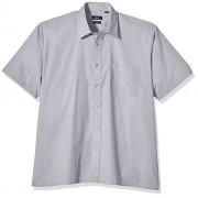 Premier Workwear Poplin Short Sleeve Shirt, Camisa para Hombre, Grey (Silver Grey), Large
