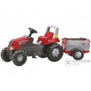 Tractor cu pedale Rolly Junior cu remorcă
