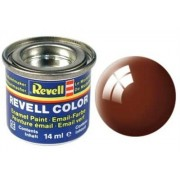 Revell 32180 RAL 8003 - Bote de pintura (14 ml), color marrón brillante