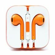 Casti in-ear cu microfon universale, iphone si samsung, portocaliu