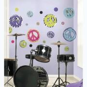 RoomMates muurstickers Zebra Peace Signs