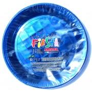 Set 15 farfurii plastic 20.6 cm PET ARISTEA albastru