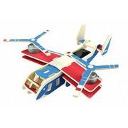ZODORE 3d puzzles asamblea kit de energía solar diy avión avión de madera niño educativo 3d Wooden Jigsaw Puzzle Toy