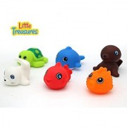 Floating Toy Animal Friend for Children's Bathtub Playtime Pack of 6 pc - Bring Home a Loveable Seal Sea Lion Turtle and More Animals from the Sea