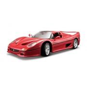 Bburago 18-16004 - Ferrari F50 Modellino, Scala 1:18, Colori Assortiti: Rosso/Giallo