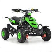 FunBikes Mini quad à essence pour enfant 49cc 50cc vert Vert