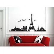 Eiffel Tower Paris Black 935
