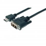 ASSMANN AK-330300-020-S :: Адаптерен кабел, HDMI M - DVI-D M (18+1), HD-Ready, Single Link, 2.0 м