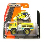 match Box Bomberos Amarillo - Blaze Blaster Fire Engine Truck - MBX Heroic Rescue
