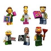 Edna Krabappel, Professor Frink, Smithers, Hans Moleman, Dr Hibbert, Groundskeeper Willie: Lego Simpsons Collectible Minifigures Series 2 Custom Bundle 71009