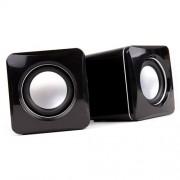 Mini enceintes / haut-parleurs pour lecteur DVD portable Takara VRT129, Lenco MES-403, DBPOWER 9.5, Audiosonic DV-1823 ¿ par prise USB ¿ DURAGADGET