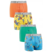 Mens Next Hibiscus Floral A-Fronts Four Pack - Multi/Floral