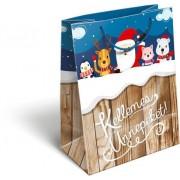 Karácsonyi ajándéktáska 23x18x9cm GSM Kids
