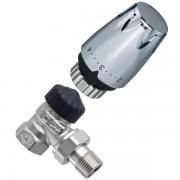 Set cap termostatic DX silver +ventil
