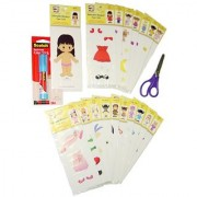 Adorable Kinders 20 Piece Mari Paper Doll Set
