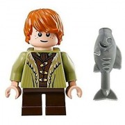 Lego Bane Son of Bard Mini Figure- Hobbit Battle of Five Armies - w/ fish