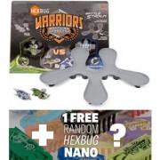 Viridia vs. Bionika: HexBug Warriors Battle Stadium w/ Battling Robots + 1 FREE HexBug Nano Bundle