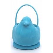 "Peeps Plush Chick Basket - Blue Stuffed Plush Peep Candy Large Dimensions: 12"" H x 8"" W x 7"" D"