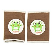Kneekers Knee Pads for Crawling Babies (Hoppy Frog in Brown/Large)