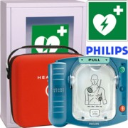 defibrillatore philips hs1 + teca senza allarme + cartello presenza