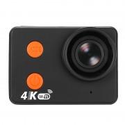 Caméra d action sportive étanche 4K - Corps en métal nu, 4K 30FPS, Lentille de 160 degrés, CMOS de 20 MP, Affichage 2 pouces, WiFi, 10M étanche